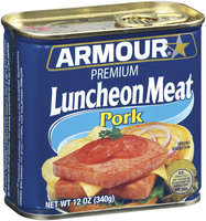 Armour Pork Premium Luncheon Meat 12 Oz Pull-Top Can