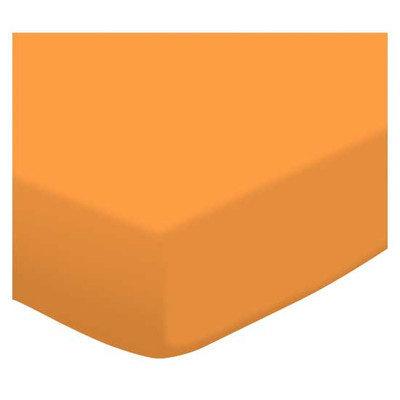 Stwd Jersey Knit Fitted Bassinet Sheet Color: Orange Sherbert