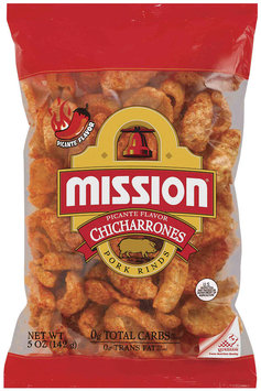 Mission Chicharrones Picante Pork Rinds 5 Oz Bag