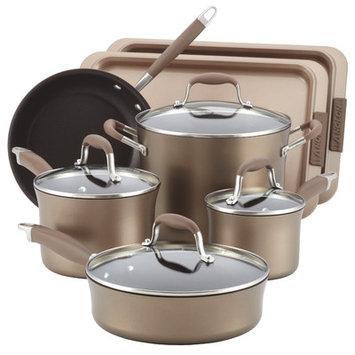 Meyer Corp. Anolon Advanced Hard Anodized Nonstick Cookware Set - Bronze