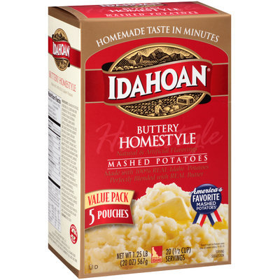 Idahoan® Buttery Homestyle Mashed Potatoes 5 ct Pouches
