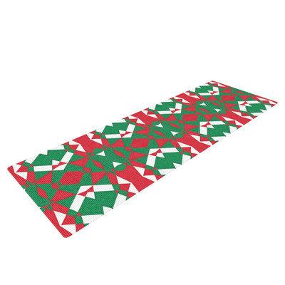 Kess Inhouse Christmas Geo by Empire Ruhl Yoga Mat