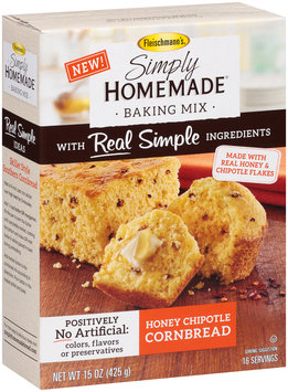 Fleischmann's® Simply Homemade® Honey Chipotle Cornbread Baking Mix 15 oz. Box