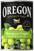 Oregon Fruit Products® Seedless Thompson Grapes in Light Syrup 15 oz. Can