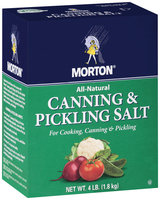 MORTON Canning & Pickling Salt 4 LB POUR SPOUT