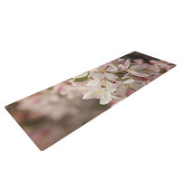 Kess Inhouse Apple Blossoms by Angie Turner Flower Yoga Mat