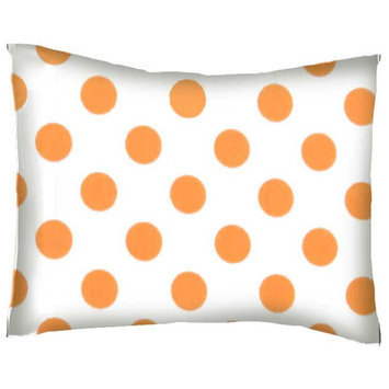 Stwd Neon Polka Dots Cotton Percale Crib/Toddler Pillow Case Color: Orange