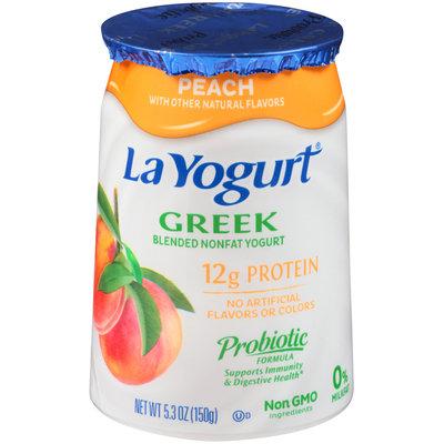 La Yogurt® Peach Greek Blended Nonfat Yogurt 5.3 oz. Cup