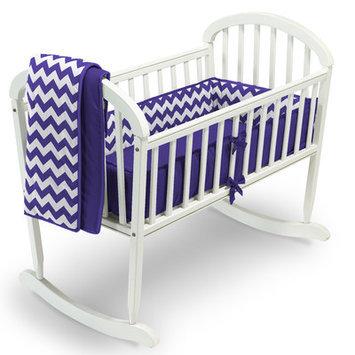 Baby Doll Bedding Chevron 3 Piece Cradle Bedding Set Color: Plum