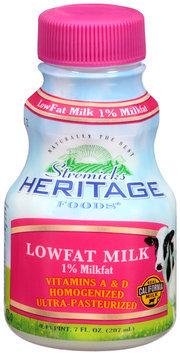 Stremicks Heritage Foods® Lowfat Milk 7 fl. oz. Bottle