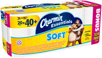 Essentials Soft Charmin Essentials Soft Toilet Paper 20 Giant Bonus Rolls
