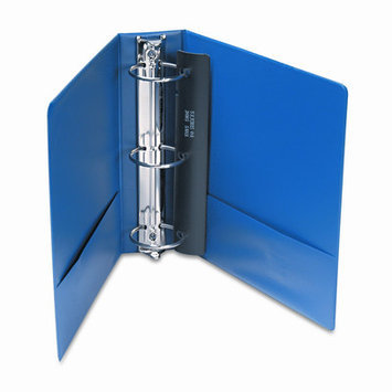 Universal Battery UNV35411 - Universal Suede Finish Vinyl Round Ring Binder w/Label Holder