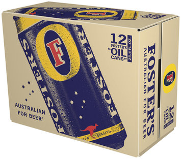 Foster's 25.4 Oz Lager Oil Cans 12 Pk Suitcase