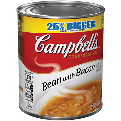 Campbell's Bean with Bacon Condensed Soup 14.4 oz. Can