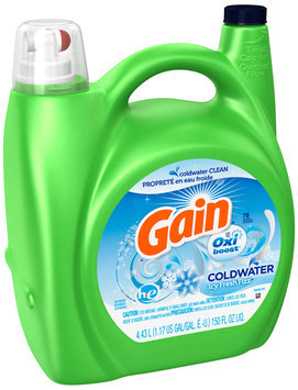 Gain with Oxi Booster™ Icy Fresh Fizz Liquid Detergent 150 fl. oz. Bottle