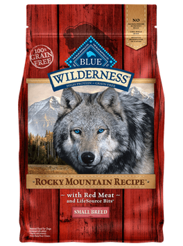 THE BLUE BUFFALO CO. BLUE™ Wilderness® Rocky Mountain Recipe™ Red Meat For Small Breed Adult Dogs