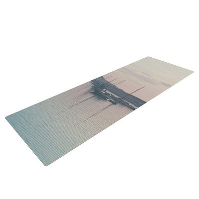 Kess Inhouse As the Sun Goes Down by Laura Evans Pastel Yoga Mat