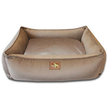 Luca For Dogs Easy-Wash Cover Lounge Donut Dog Bed, Small (26 L x 20 W), Coco