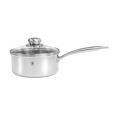 J A Henckels International Zwilling J.A. Henckels Steel Clad Stainless Steel 2-Quart Sauce Pan with Glass Lid