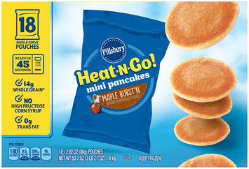 Pillsbury™ Heat-N-Go! Maple Burst'n™ Mini Pancakes 18-2.82 oz. Pouches