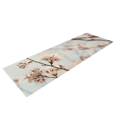 Kess Inhouse Japanese Cherry Blossom by Catherine McDonald Yoga Mat