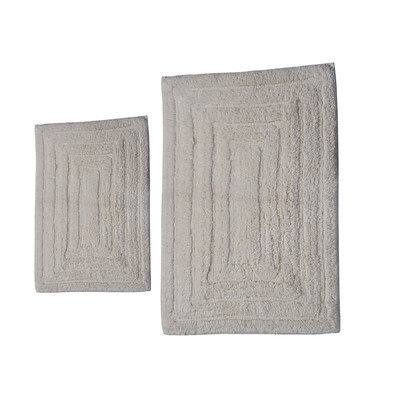 Textile Decor Castle 2 Piece 100% Cotton Racetrack Spray Latex Bath Rug Set, 24 H X 17 W and 40 H X 24 W