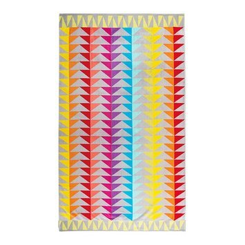The St. Pierre Home Fashion Collection Graccioza Beach Towel Color: Block