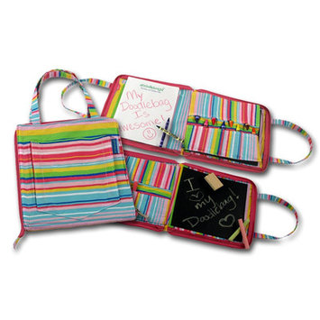 Princess Linens 164P Doodlebugz Pink Striped Doodlebag