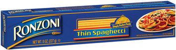 Ronzoni  Thin Spaghetti 8 Oz Box