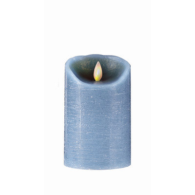 Boston Warehouse MYSTIQUE FLAMELESS CANDLE TAUPE DISTRESSED