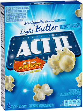 Act II® Light Butter Microwave Popcorn