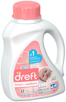 Dreft Stage 1: Newborn Liquid Detergent (HEC): 50oz 32 loads SIOC
