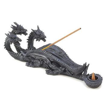 Gifts & Decor Triple Head Mythical Dragon Figure Incense Stick Burner