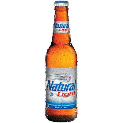 Natural Light 12 Oz Stubby & LNNR Beer   Glass Bottle