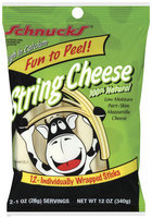SCHNUCKS 100% Natural 12 Oz String Cheese 12 CT PEG