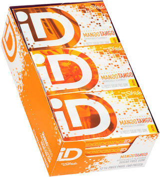 iD from Stride Mango Tango Sugar Free Gum 12-14 Piece Packs