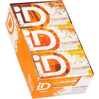 iD from Stride Mango Tango Sugar Free Gum 12-14 Piece Packs