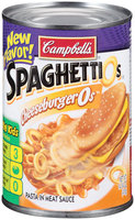 Campbell's SpaghettiOs Cheeseburger0s Pasta in Meat Sauce