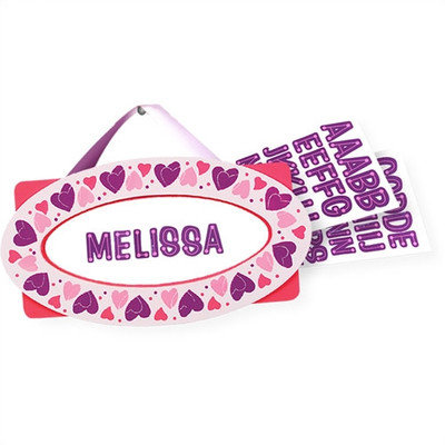 Melissa & Doug - Hearts Door Plaque (Children's)