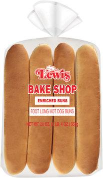 Lewis Bake Shop Foot Long Hot Dog Buns 8 Ct Bag