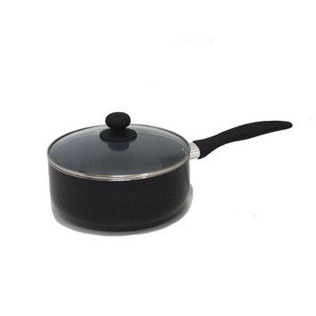 Gourmet Chef Saucepan with Lid Size: 3 Quarts, Color: Black