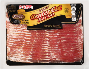 Stater Bros.® Premium Hickory Smoked Center Cut Bacon 12 oz. Pack