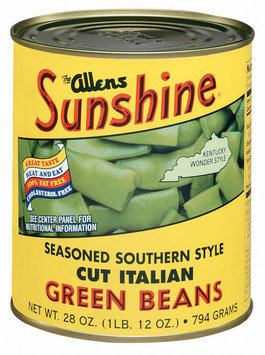 The Allens Sunshine Cut Italian Seasoned Southern Style Green Beans 28 Oz Can