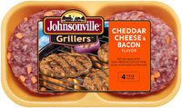 Johnsonville Grillers Cheddar Cheese & Bacon Patties 16oz 4ct tray  (101866)