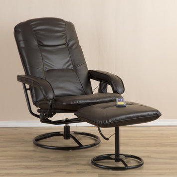 Zipcode Design Heated Massage Chair in Brown