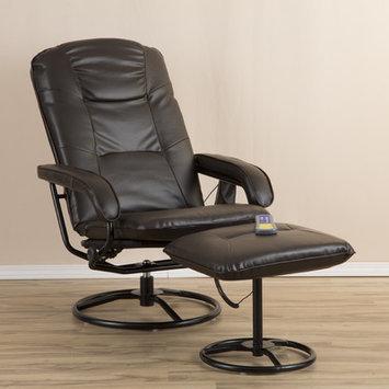 Zipcode Design Heated Massage Chair in Brown
