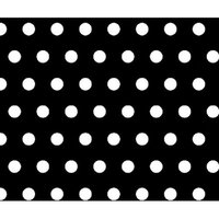 Stwd Polka Dots Pack N Play Fitted Playard Sheet Color: Black