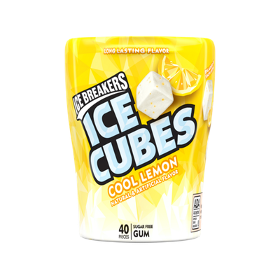 ICE BREAKERS ICE CUBES COOL LEMON GUM