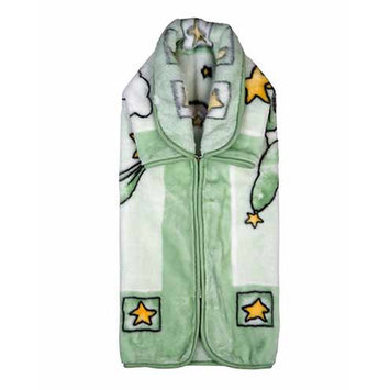 Home Sensation Baby Snuggle Wrap with Zipper Color: Green