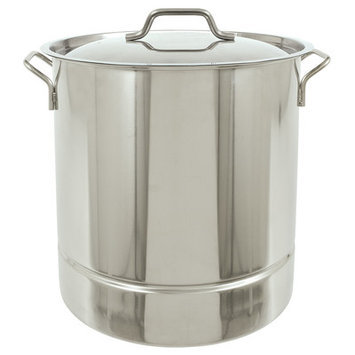 Barbour Int'l Bayou Classic Tri-Ply 16-Gallon Stainless Steel Stockpot